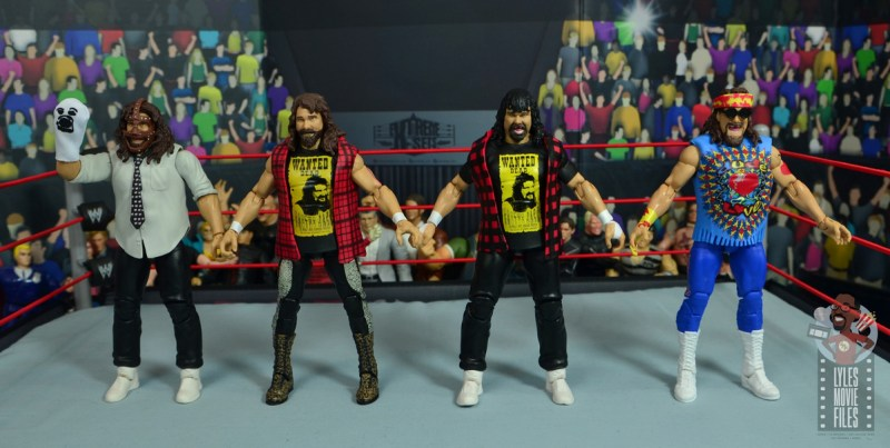 wwe wrestlemania 34 elite mick foley figure review - four faces of foley