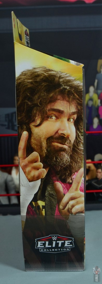 wwe wrestlemania 34 elite mick foley figure review - package right side