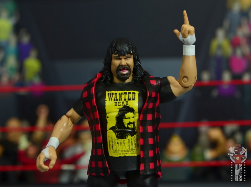wwe wrestlemania 34 elite mick foley figure review - wide shot