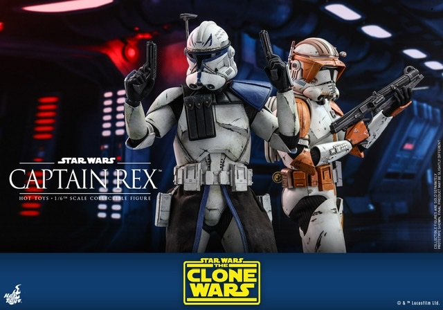 Hot Toys Star Wars clone wars figure -With commander cody
