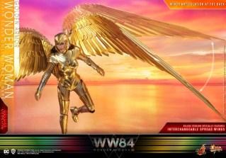 hot Toys Wonder Woman 1984 golden armor figure -sunrise wings