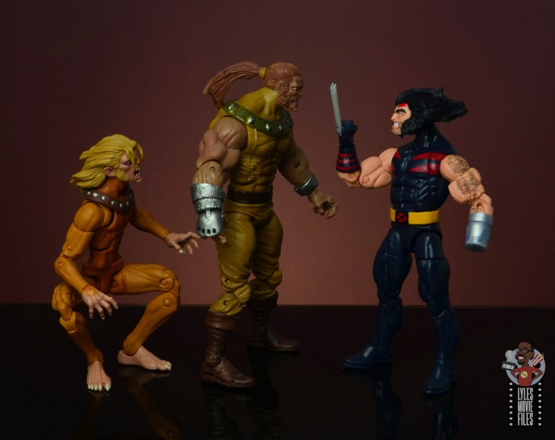marvel legends age of apocalypse weapon x figure review - face off with sabretooth and wild child
