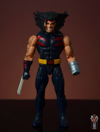 marvel legends age of apocalypse weapon x figure review - front
