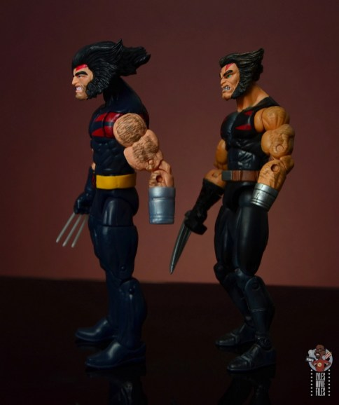 marvel legends age of apocalypse weapon x figure review - left side with toy biz weapon x