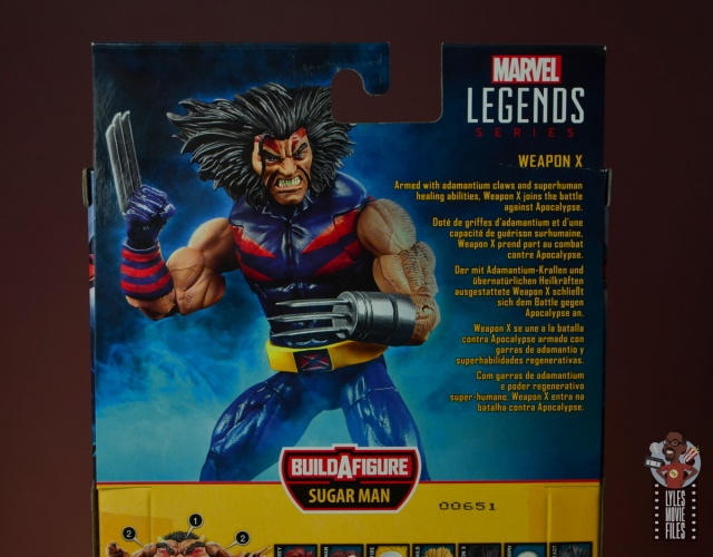 marvel legends age of apocalypse weapon x figure review package bio