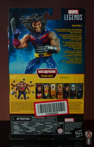 marvel legends age of apocalypse weapon x figure review - package rear