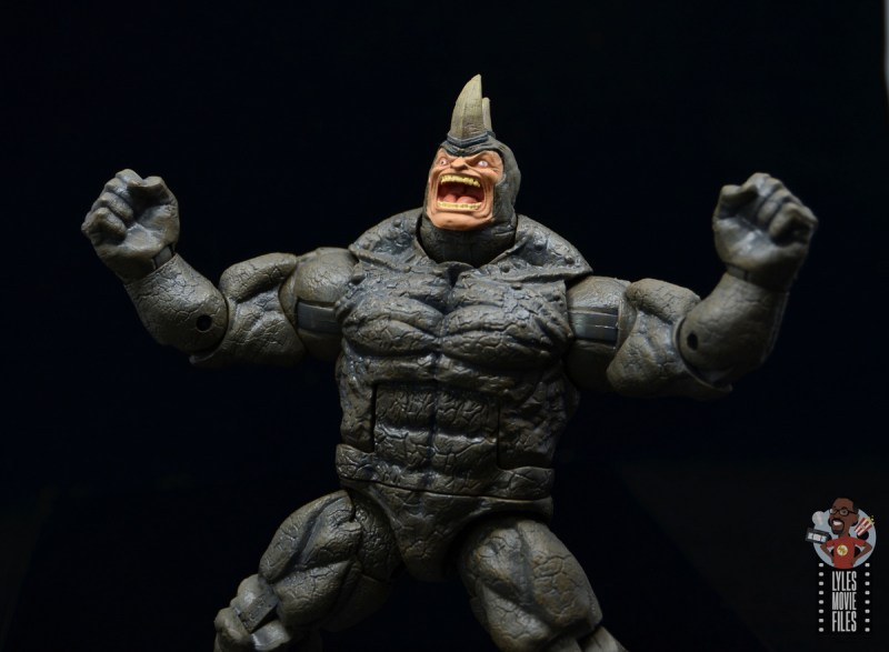 marvel legends build-a-figure rhino figure review - raging out