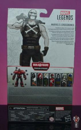 marvel legends crossbones figure review - package rear