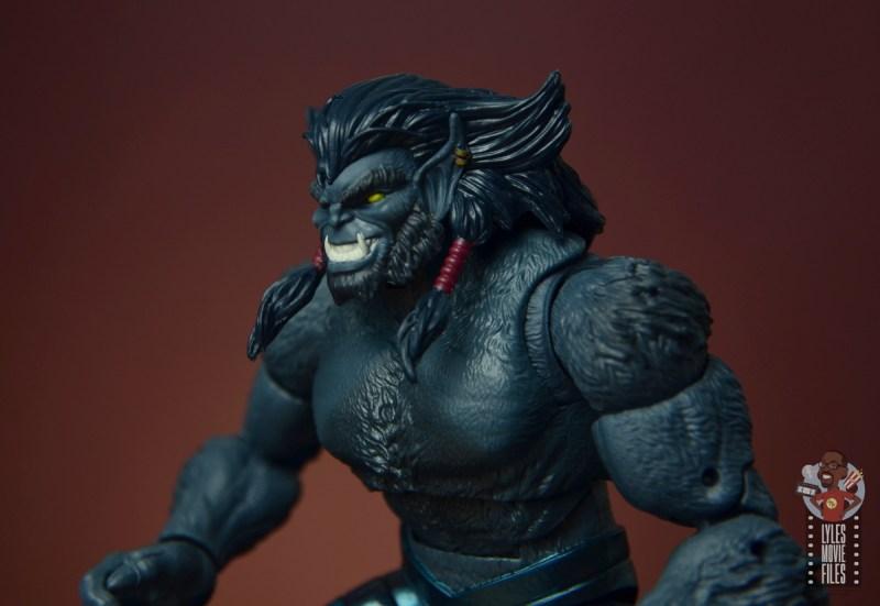 marvel legends dark beast figure review - head detail