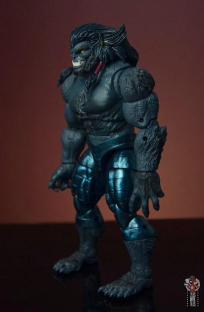 marvel legends dark beast figure review - left side
