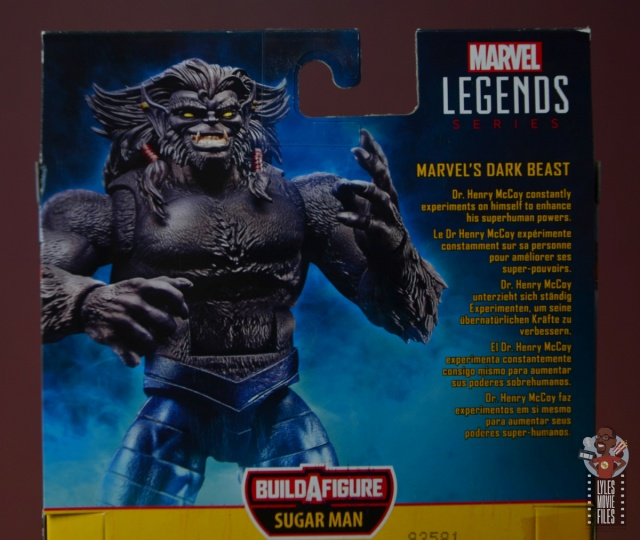 marvel legends dark beast figure review - package bio