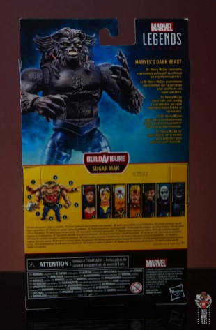 marvel legends dark beast figure review - package rear