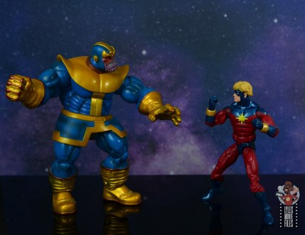 marvel legends mar-vell figure review - facing thanos