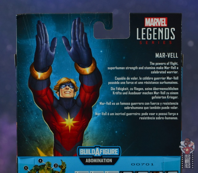 marvel legends mar-vell figure review - package bio