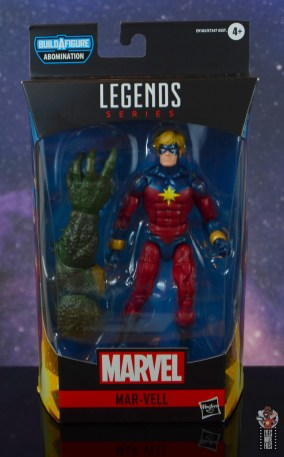 marvel legends mar-vell figure review - package front