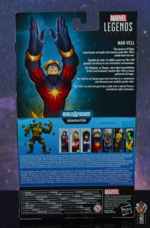 marvel legends mar-vell figure review - package rear