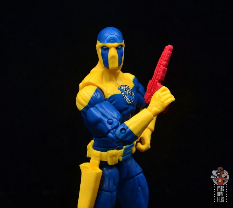 marvel legends spymaster figure review - raising pistol