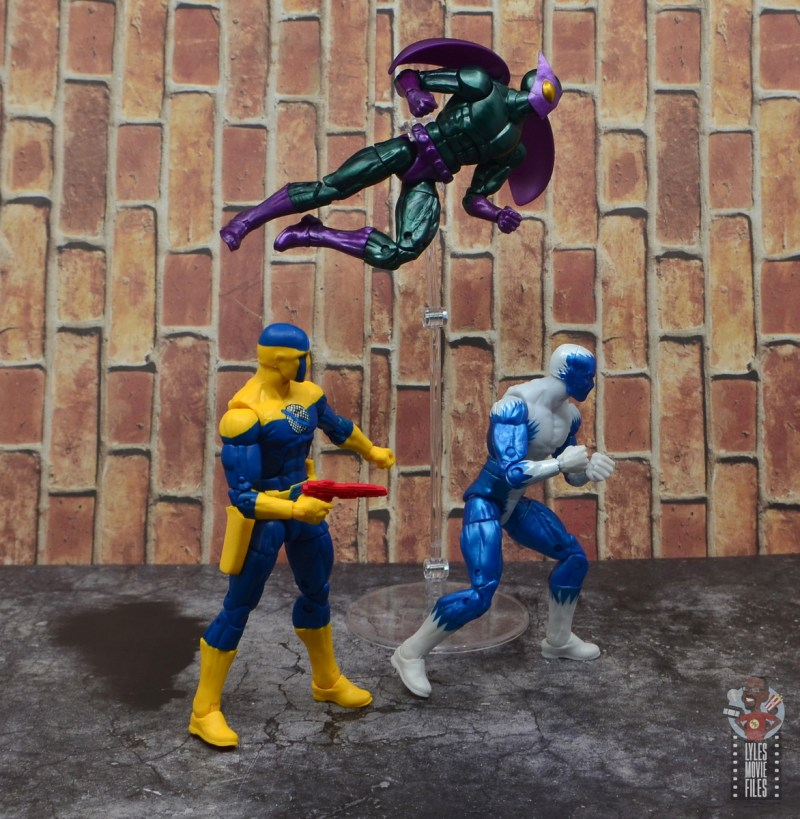 marvel legends spymaster figure review - with beetle and blizzard