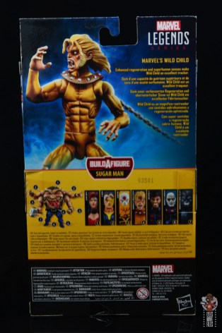 marvel legends wild child figure review - package rear