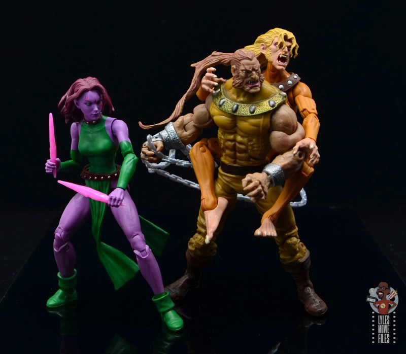 marvel legends wild child figure review - ready for battle with blink and sabretooth