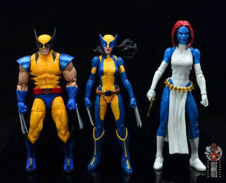 marvel legends wolverine figure review - scale with wolverine and mystique