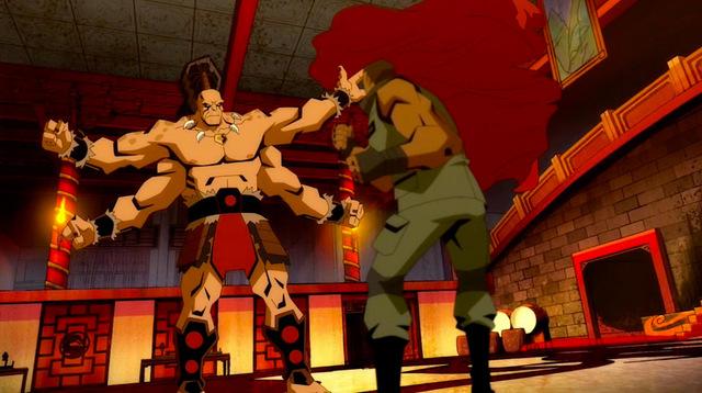 mortal kombat scorpion's revenge - goro vs jax