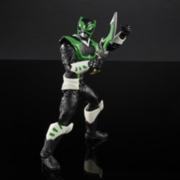 power rangers lightning collection space psycho green ranger - battle stance