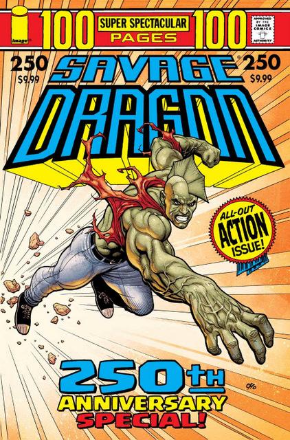 savage dragon #250 - frank cho cover