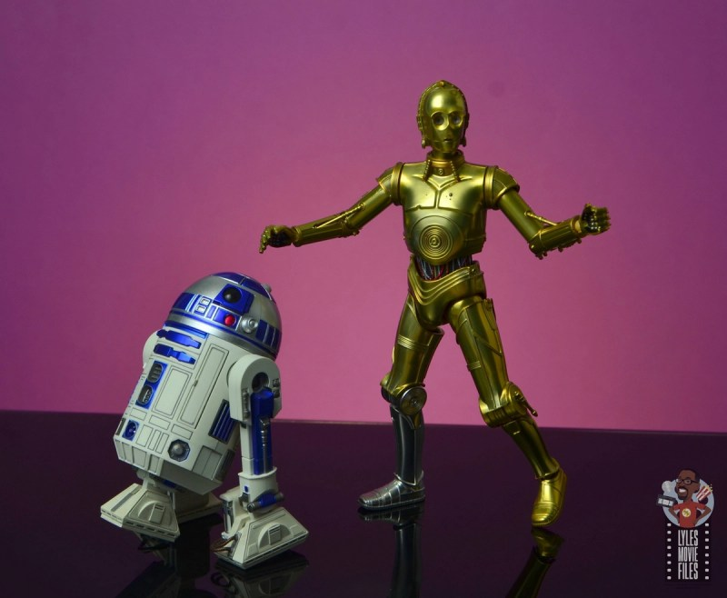 sh figuarts star wars c-3p0 figure review - on the move with r2-d2