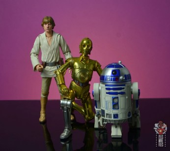 sh figuarts star wars c-3p0 figure review -with luke skywalker and r2d2