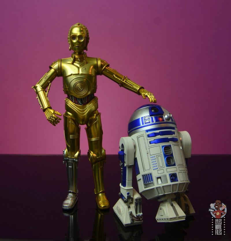 sh figuarts star wars c-3p0 figure review - with r2d2