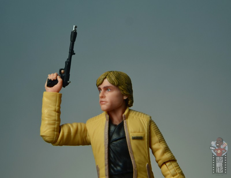 star wars the black series yavin celebration luke skywalker figure review - blaster detail