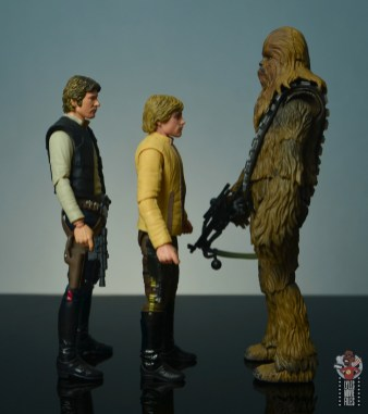 star wars the black series yavin celebration luke skywalker figure review - facing figuarts han solo and chewbacca