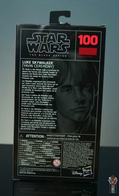 star wars the black series yavin celebration luke skywalker figure review - package rear