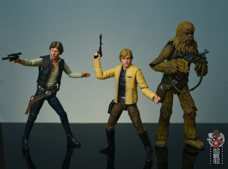 star wars the black series yavin celebration luke skywalker figure review - ready for battle with han solo and chewbacca