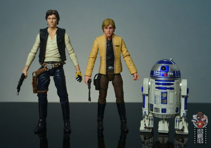star wars the black series yavin celebration luke skywalker figure review - scale with han solo and figuarts r2d2