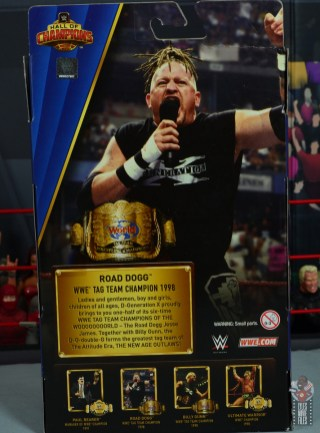 wwe elite hall of champions road dogg figure review - package rear