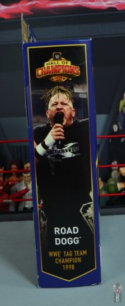 wwe elite hall of champions road dogg figure review - package side