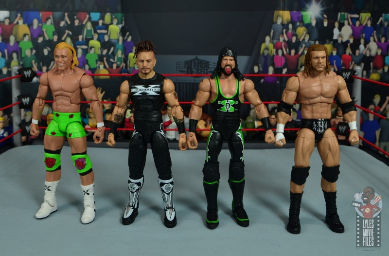 wwe elite hall of champions road dogg figure review - scale with billy gunn, x-pac and triple h