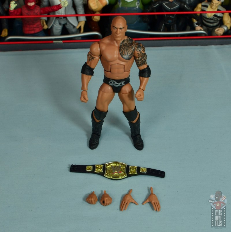 wwe elite royal rumble the rock figure review - accessories