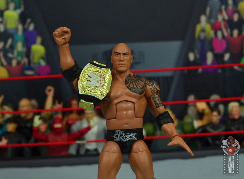 wwe elite royal rumble the rock figure review - with wwe championship