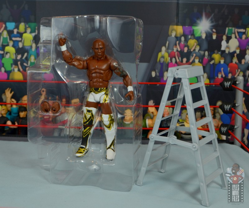 wwe elite shelton benjamin figure review - accessories