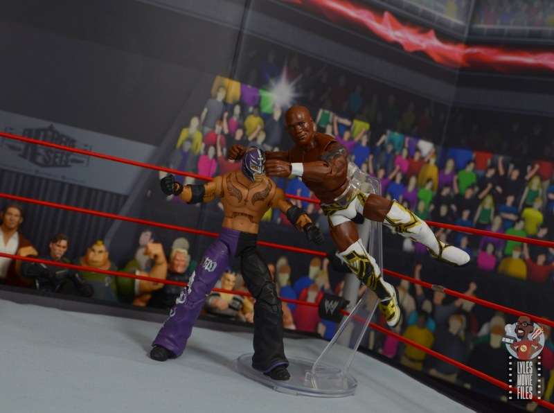 wwe elite shelton benjamin figure review - flying bulldog to rey mysterio