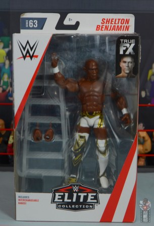 wwe elite shelton benjamin figure review - package front