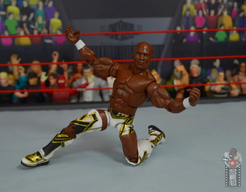wwe elite shelton benjamin figure review -posing