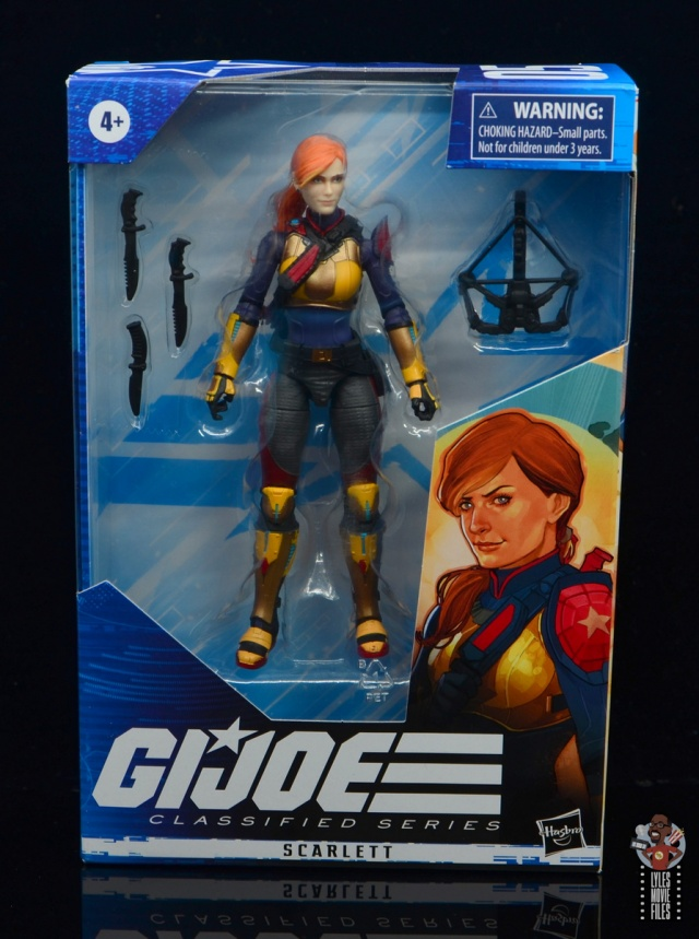 gi joe classified scarlett figure review - package front