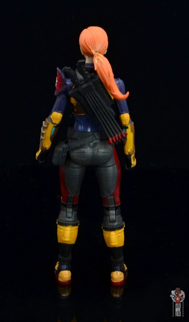 gi joe classified scarlett figure review - rear