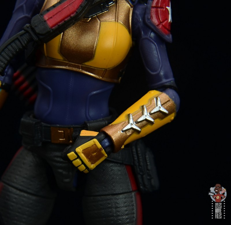 gi joe classified scarlett figure review - shiruken detail