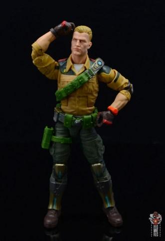 gi joe classified series duke figure review - hand on head