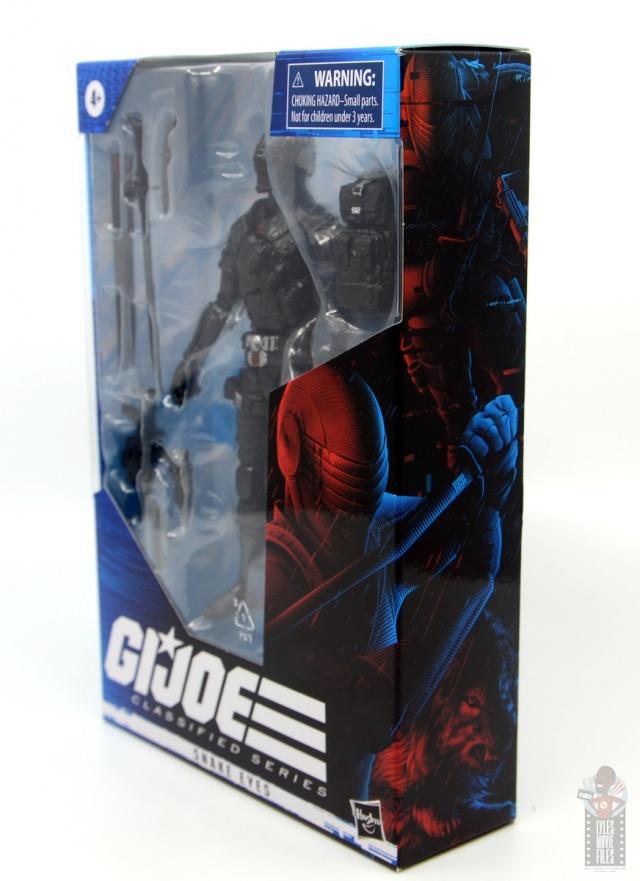 gi joe classified series snake eyes figure review - package diagonal